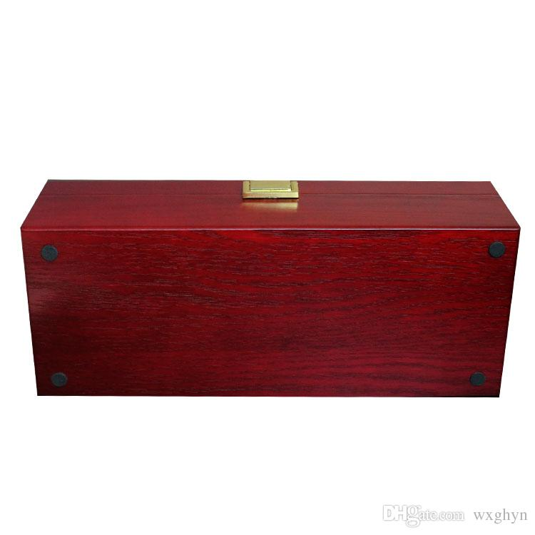 El mejor regalo para la caja de exhibición de lujo Rose Wood / Walnut / Mahogany Box para relojes de marca 6 Cuadros cajas de reloj, OEMDrop envío