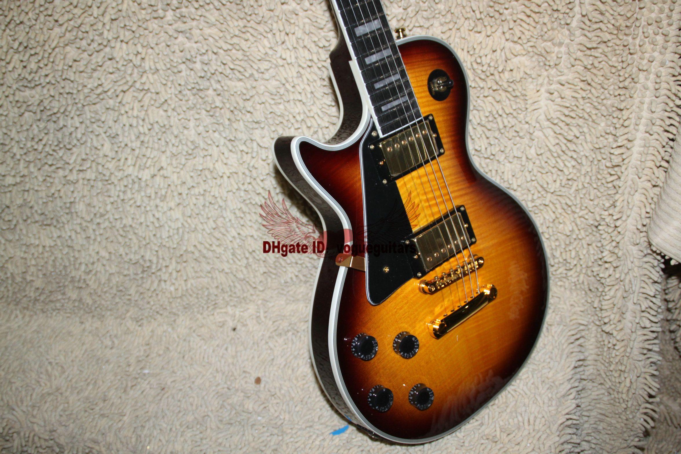 great left handed guitar les custom shop sunburst left hand electric guitar ebony fingerboard. Black Bedroom Furniture Sets. Home Design Ideas