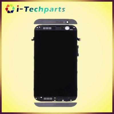 Good Quality For HTC One M8 LCD Display Touch Screen Digitizer with Frame  Assembly Replacement ,Black Grey Gold