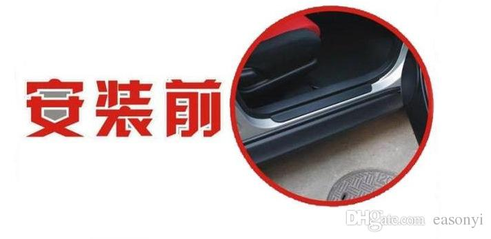 Stainless Steel Exterior Scuff Plate Door Sills for 2014- 2016 Nissan Qashqai Welcome Pedal Threshold Strip Car Styling Accessories