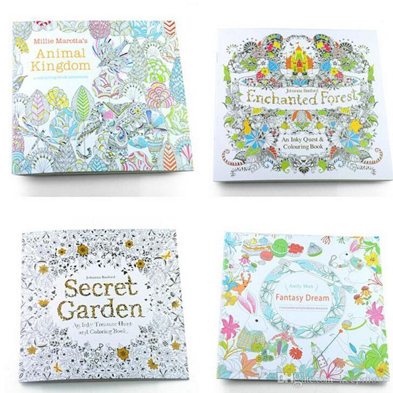 Secret Garden Coloring Book For Children Adult Relieve Stress Kill ...