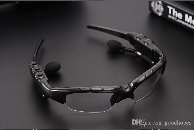 Sun Glasse Bluetooth Headset Sonnenbrille Stereo Unterstützung Musik Anruf Kopfhörer Fahren Einfache Sonnenbrille Für Samsung Iphone LG HTC freeshiping
