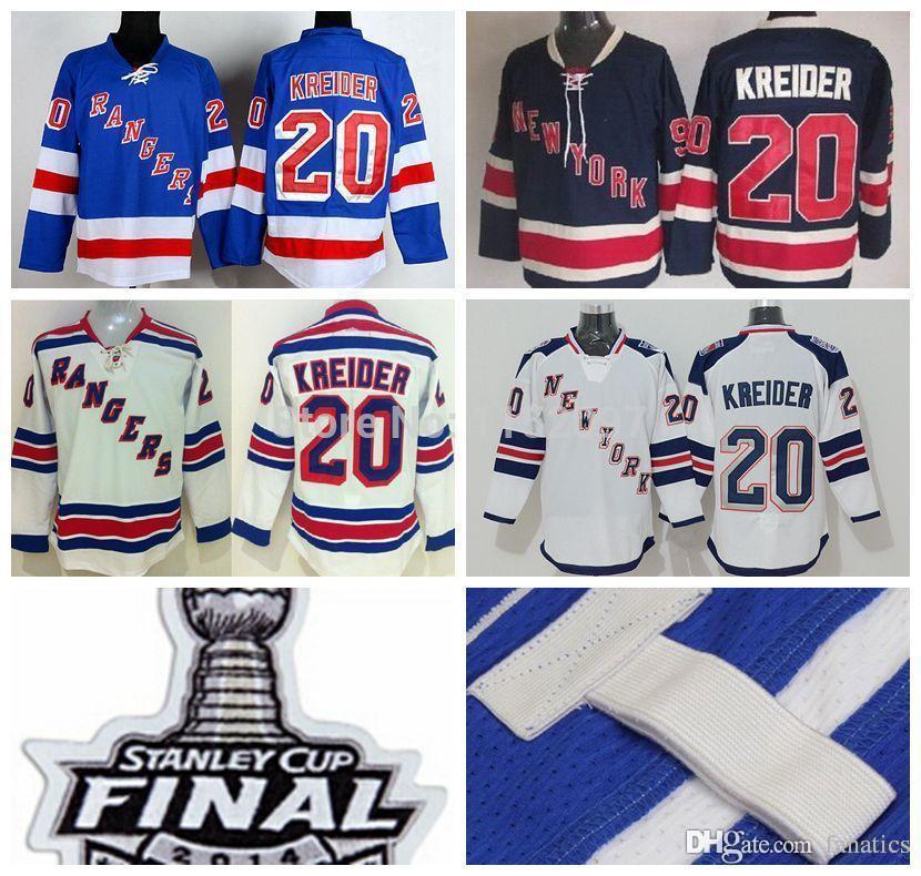 84ce449730b 2019 Cheap New York Rangers Chris Kreider Jersey 20 Men'S Stadium Series  Blue White Navy Blue 85th Hockey Rangers Jersey Stanley Cup From Fanatics,  ...
