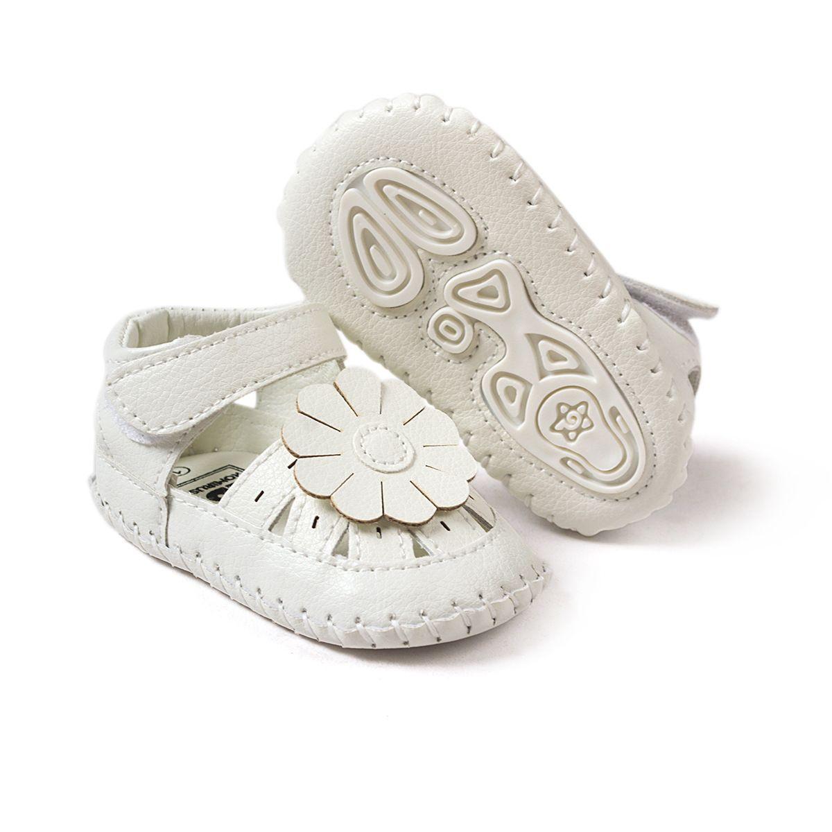 아기 첫 워커 새로운 패션 여름 아기 Gilrs 샌들 나 막 신 부드러운 유아와 플랫 유아 여자 아이 샌들 아기 신발 0-24months