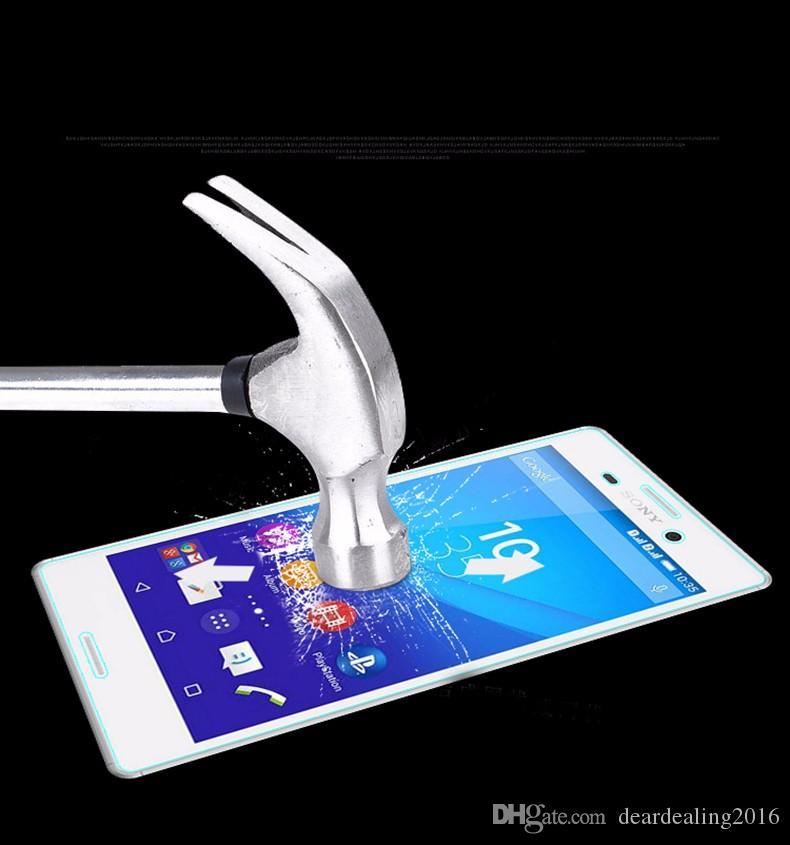 0.3 mm 2.5D Borde curvado a prueba de explosiones Premium para Sony Xperia Z2 Z1 Z3 Z4 Z5 Compact Vidrio templado Protector de pantalla