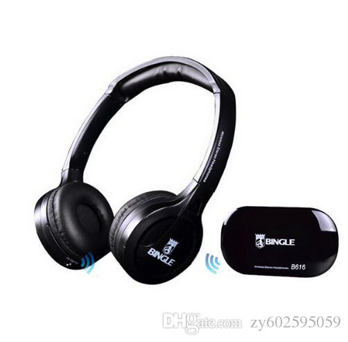 High Quality B616 Computer TV Earphone Multifunction Wireless Headset Headphone with FM Radio for MP3 PC TV Audio