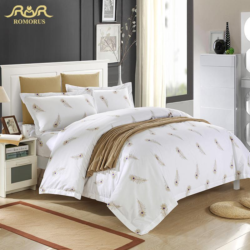 Wholesale Luxury White Hotel Duvet Cover Set Quality King Queen Size