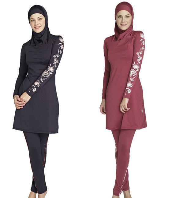 75bf408c72c6a 2019 Modest Muslim Swimwear Islamic Swimsuit For Women Hijab Swimwear Full  Coverage Swimwear Muslim Swimming Beachwear Swim Suit For Women S 4XL From  ...
