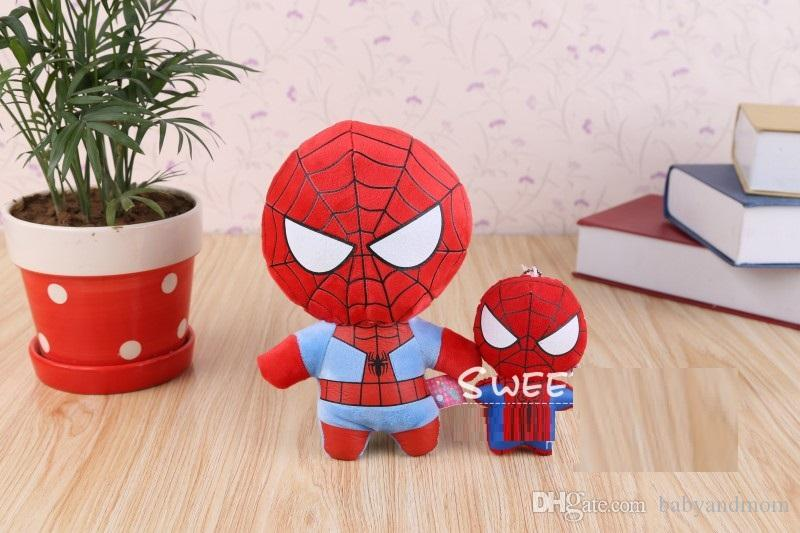 Retail marvel The Avengers plush toy Captain America Iron Man Wolverine X-Men Thor Spider man soft doll stuffed toy 12-22cm