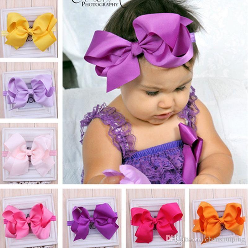 Hot Nice Girls Baby 15CM Ribbon Bows With Clips Children Grosgrain Bowknot  Headbands Hair Clips Girls Hair Accessories Kids Barrettes Fashion Hair ... 14ea8b8fa9f