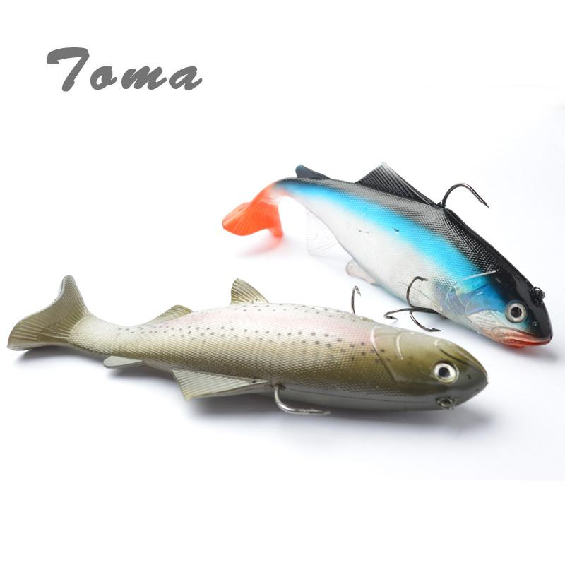 Toma 130G 20Cm Lifelike Fishing Lures Swimbait Deep Sea Soft Lead Big Fish Bass Bait Isca Artificial Lures Fishing Tackle