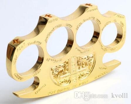 HELL DETECTIVE CONSTANTINE BRASS KNUCKLE DUSTERS GOLD Powerful damage safety equipment, self-defense,