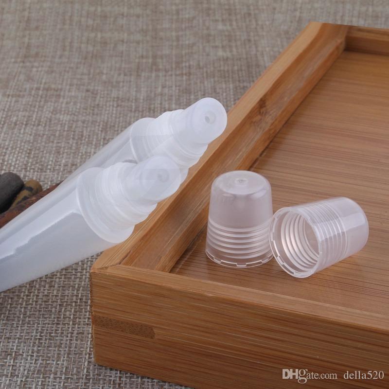 Il trasporto libero / 8ml contenitore vuoto del rossetto del tubo di lucentezza del labbro pp contenitore 8g contenitore del balsamo del labbro chiara trasparente i tubi cosmetici