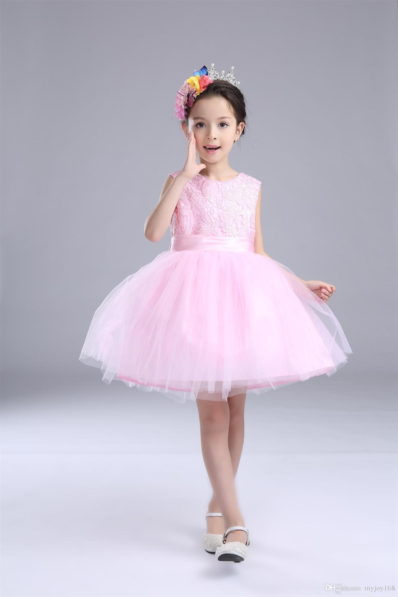 Beautiful Baby Girl Children Dresses Princess Bridesmaid Flower Girl ...