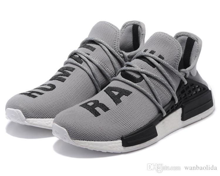 2018 Original Shoes Nmd Human Race Pharrell Williams X Nmd Runner Shoes Man  & Women New Arrivals Summer Autumn Sneakers Running Shoes With Box From ...