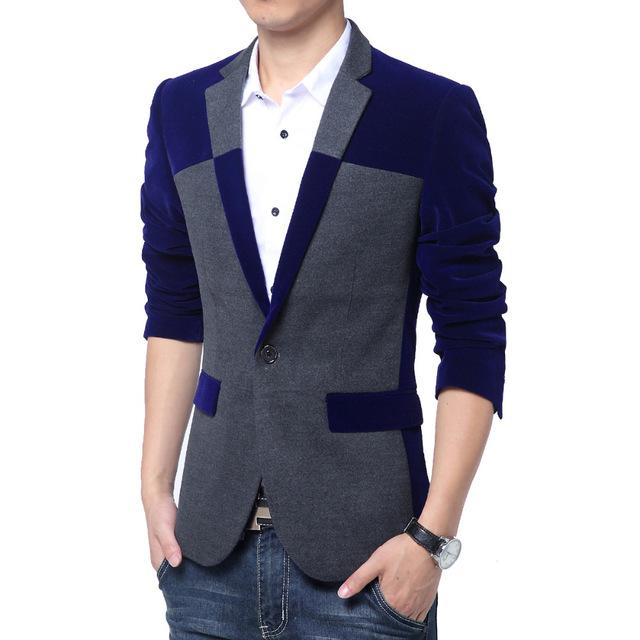 2017 M 3xl Mens Suit Jacket Blazer Fashion Men Blazer For Man Slim ...