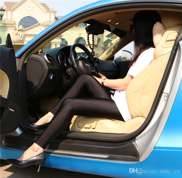 Nuevas Mujeres Sexy Aceite Brillante Lápiz Brillante Leggings Pantalones Lápiz Ligeros de Cadera Transpirable Lencería Erótica Club Wear Alta Calidad FX39