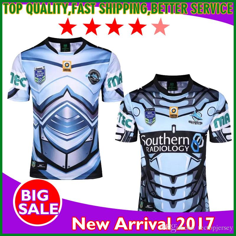 18035e685 2017 Cronulla Sharks Rugby Jerseys Auckland 9s Rugby Men Shirts Thai ...