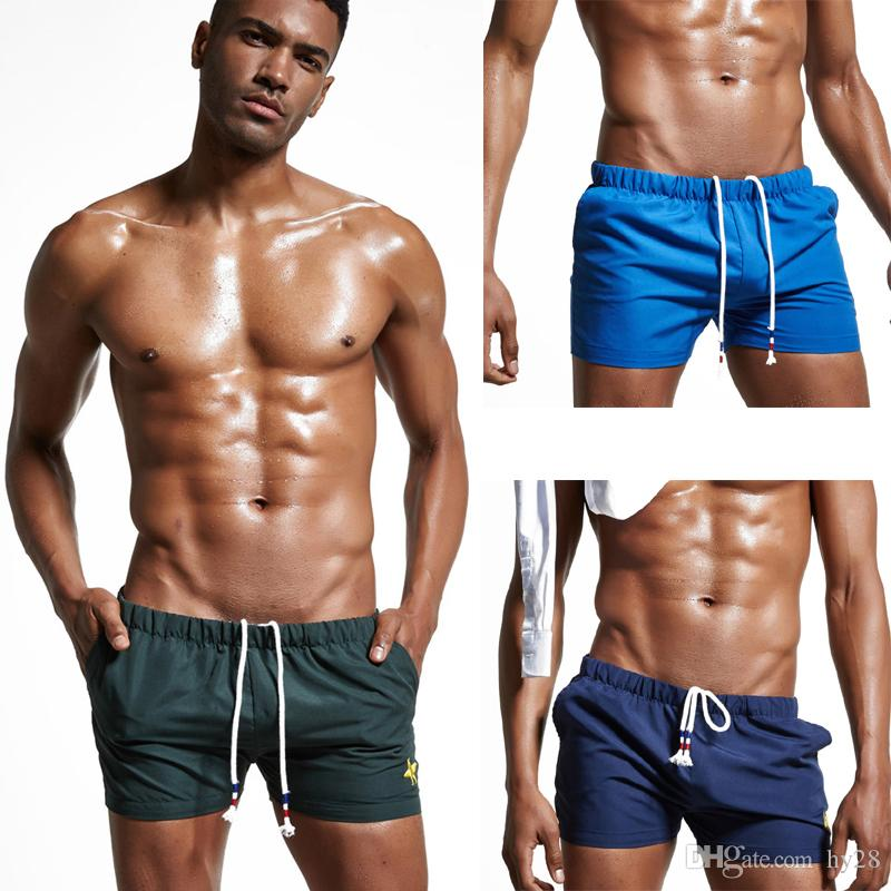 Hombres Shorts Boxers Trunks Quick Drying Plus Deportes de playa de talla grande Short, Fitness Homewear Bottoms Pants Casual Fashion Solid Shorts básicos