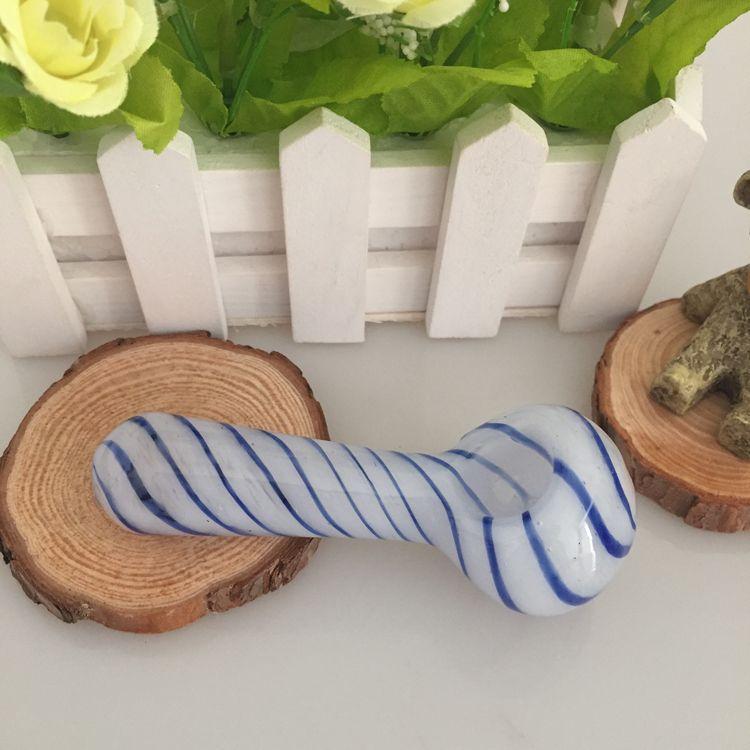 喫煙ハーブボーンガラスパイプバブラーヘッドのための最新のミニハンドパイプガラススプーン