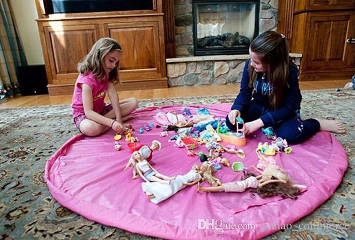 2016 다채로운 아기 놀이 매트 150 / 45cm 재생 매트 장난감 저장 가방 휴대용 장난감 저장 가방 담요 깔개 상자 장난감 주최자 크리스마스 선물