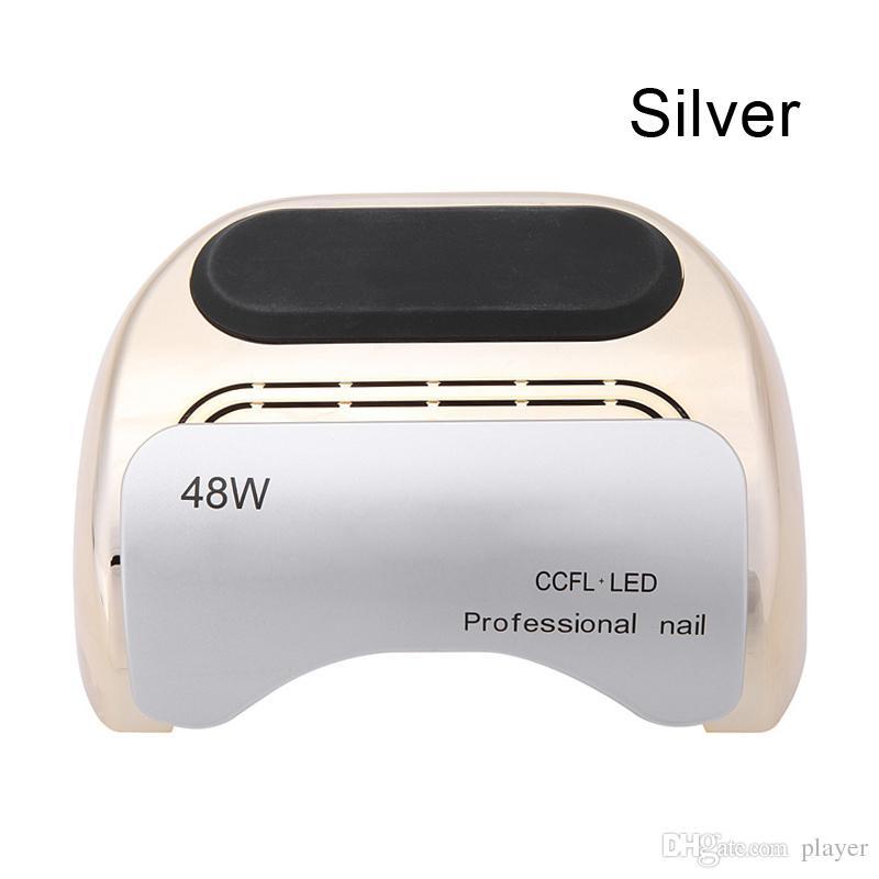 Alta calidad es disponibles Seco rápido 48W UV LED clavo lámpara para uv y led gel polaco 110V-220V con Pacakge al por menor DHL envío gratis