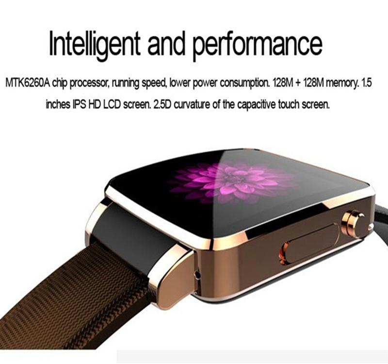 2016 Luxury Leather Business Smart Watch X6 Support Sim Tf Card ...