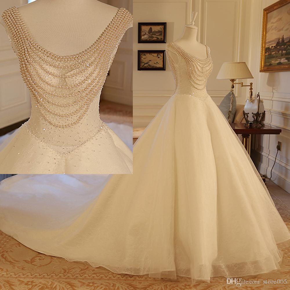Sexy Romantic Lace Wedding Dresses Backless Real Photos