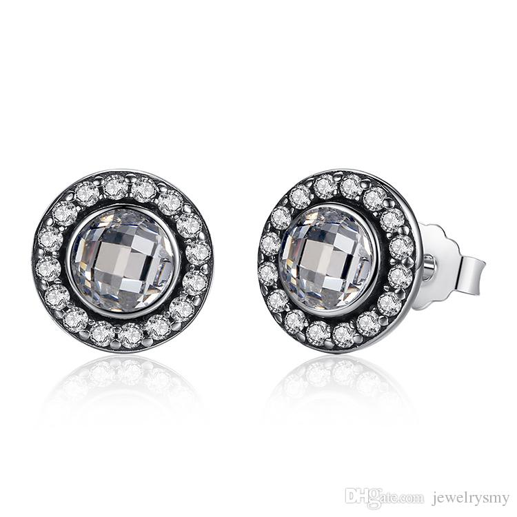 stud brincos romantic cz sterling be item my jewelry silver popular earrings from clear valentine heart femme in