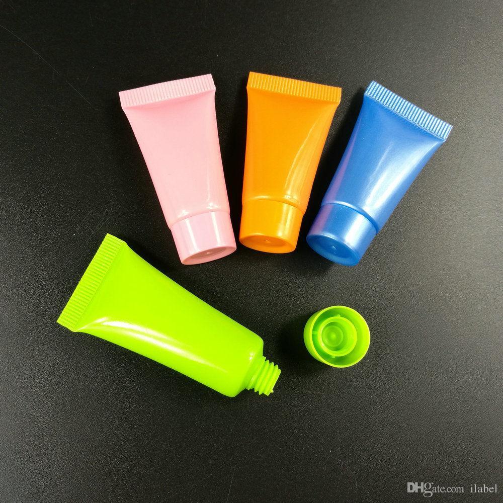 Mutil 색상 빈 병 소프트 튜브 화장품 용기 크림 로션 5 ml