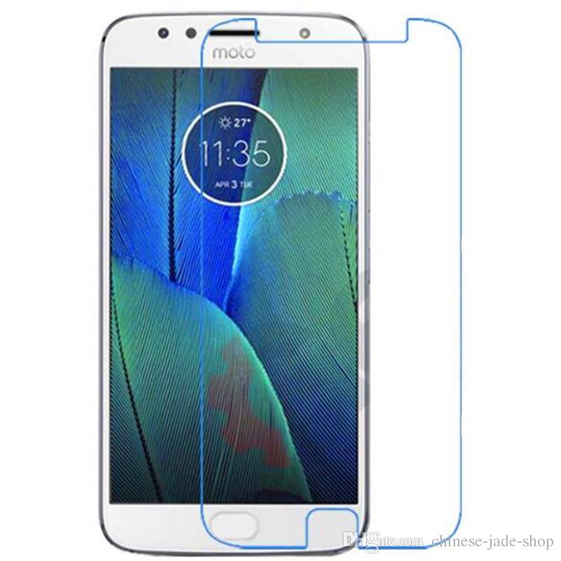 Protecteur d'écran de verre trempé 2.5D de 9h Premium 2.5D pour Motorola Moto G5S Plus Moto X4 Z2 Force E5 Plus E5 Play G6 Jouer à /