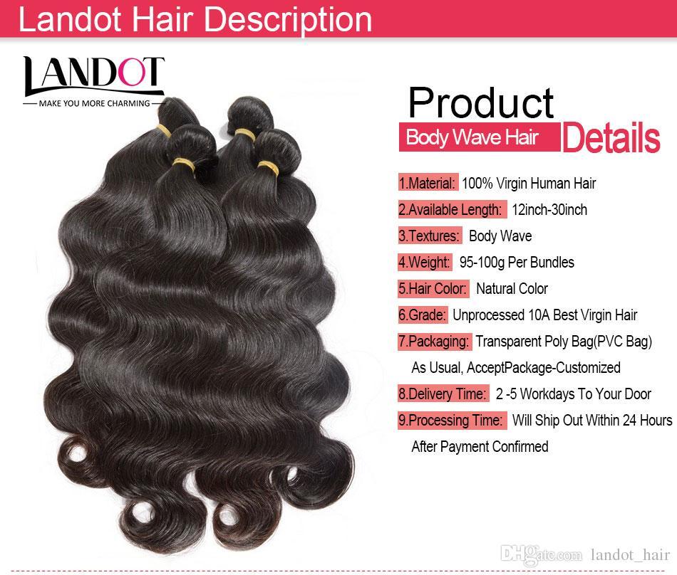 Лучший 10A перуанский Индийский малайзийский бразильский тела волны волос 4 пучки много необработанных бразильских человеческих волос ткет может отбелить до 2 года жизни