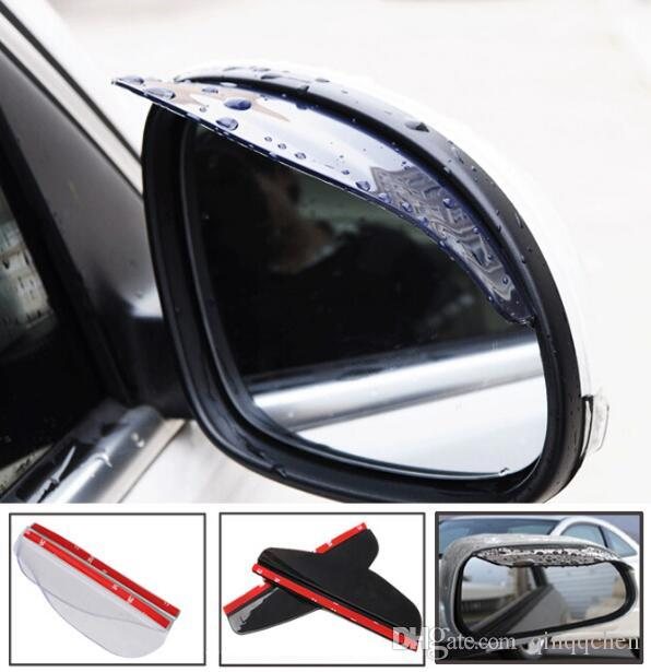 Accessories 2X Car Door Side Rear View Wing Mirror Rain Visor Board Snow Guard Weather Shield Sun Shade Cover Rearview Universal