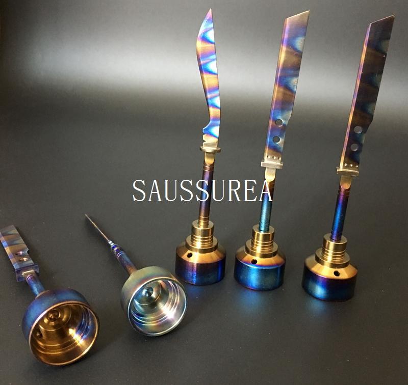 Neuestes anodisiertes buntes Titancarb-Kappen-Regenbogen-Ti-Nagel dabber 14mm und 18mm für das Rauchen des Wasserpfeifenglasöl-Ölplattform-Zerstäubers