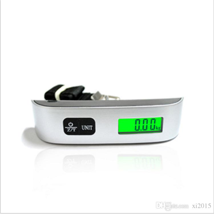 2016 Hot Tragbare LCD Display Elektronische Hanging Digital Gepäck Gewicht Skala 50 kg * 10g 50 kg / 110 lb Gewicht Waagen
