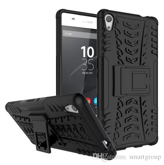 For Sony C6 Case Cover Armor Kickstand Shockproof Hybird Rugged Rubber Case For Sony Xperia C6 / Xperia XA Ultra F3212 F3216