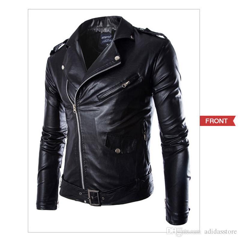 d6664b334bc0 Super Brand Imported Jackets Mens PU Leather Jackets Fashion Men Black  Leather Zipper Jacket Chaqueta Cuero Hombre Hockey Team Jackets Winter Coat  Jacket ...