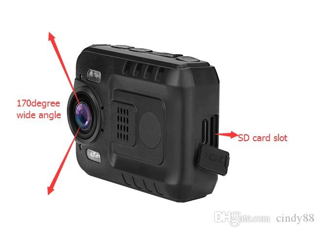 Cheap Mini DV WZ9 Dual Card Corpo fotocamera indossata HD1080P Infared CMOS impermeabile Mini DV