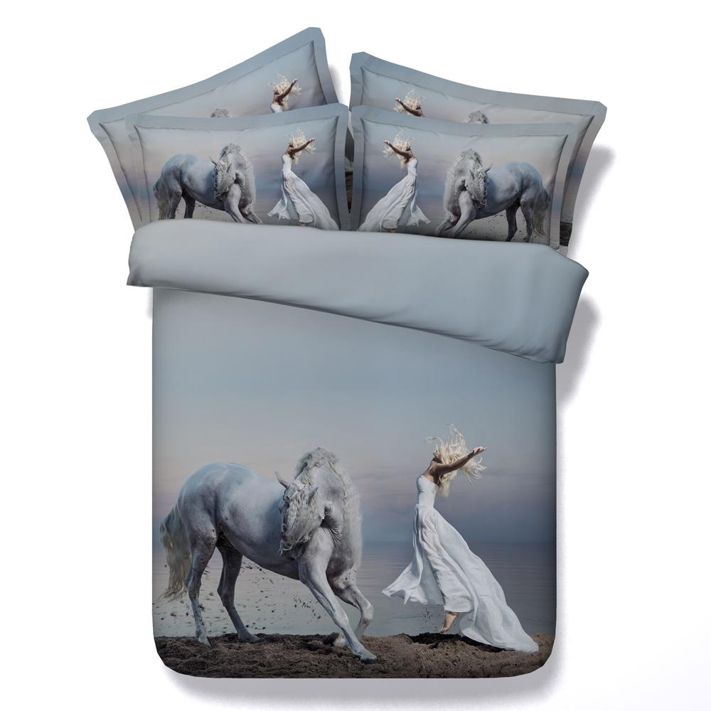 sets pony blue sheets girls turquoise set western comforter pink horse pin bedding