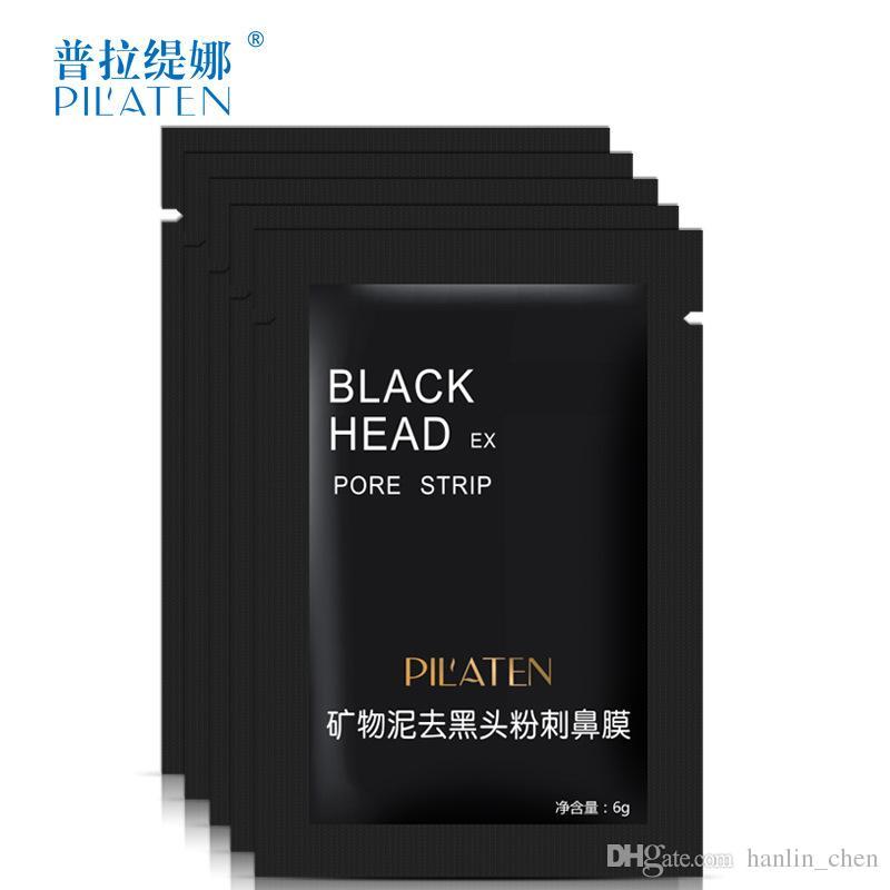 Wholesale Beauty PILATEN Minerals Mud Nose Blackhead Remover Mask 6g Pore Cleaner Nose Black Head EX Pore Strip