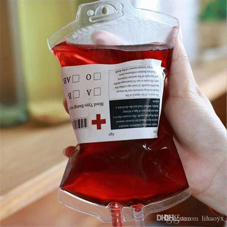 350ML сок крови энергия энергии мешок для питья HALLOWEEN Party Party Saceation Pouch Ryps Vampires многоразовые пакетные пакеты C258