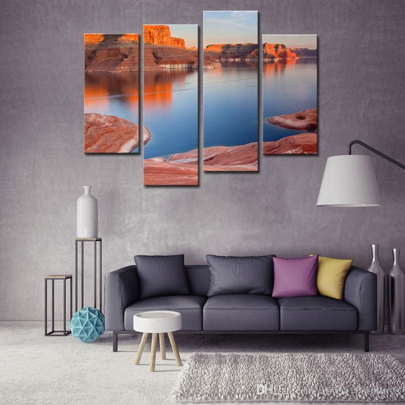 4 Pieces Modern Canvas Painting For Home