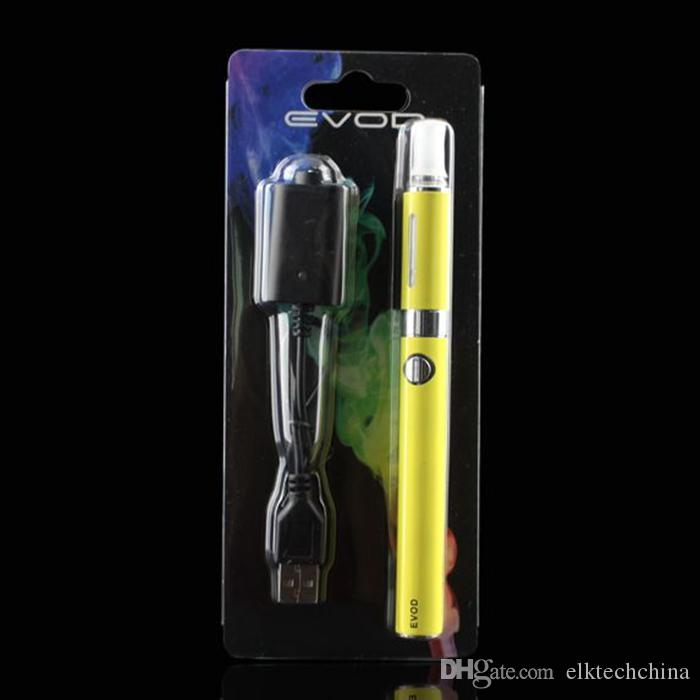 MT3-EVOD Pacote Blister Kit-cigarro eletrônico starter kit com atomizador MT3 e 650 900 1100 mAh EVOD bateria vaporizador caneta