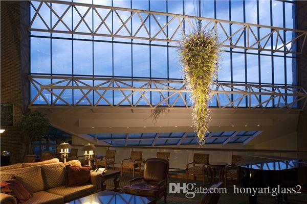 100% Mouth Blown Borosilicate Energy Saving Light Source Murano Glass Art Modern Led Large Chandelier Lights