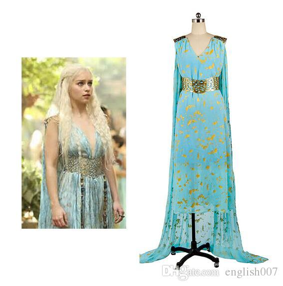Got Cosplay Game Of Thrones Daenerys Targaryen Blue Dress Cospaly Costume Belt Dress From Hot Movie Anime Female For Halloween Party Anime Halloween Costume ...  sc 1 st  DHgate.com & Got Cosplay Game Of Thrones Daenerys Targaryen Blue Dress Cospaly ...