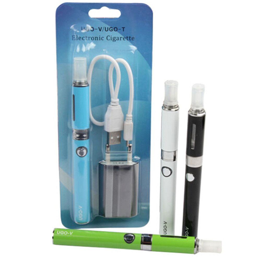 Ugo-V USB passthrough battery ugo mt3 Electronic Cigarette eGo starter kits with ecigs mt3 vaporizer atomizer vape pen blister pack kit DHL