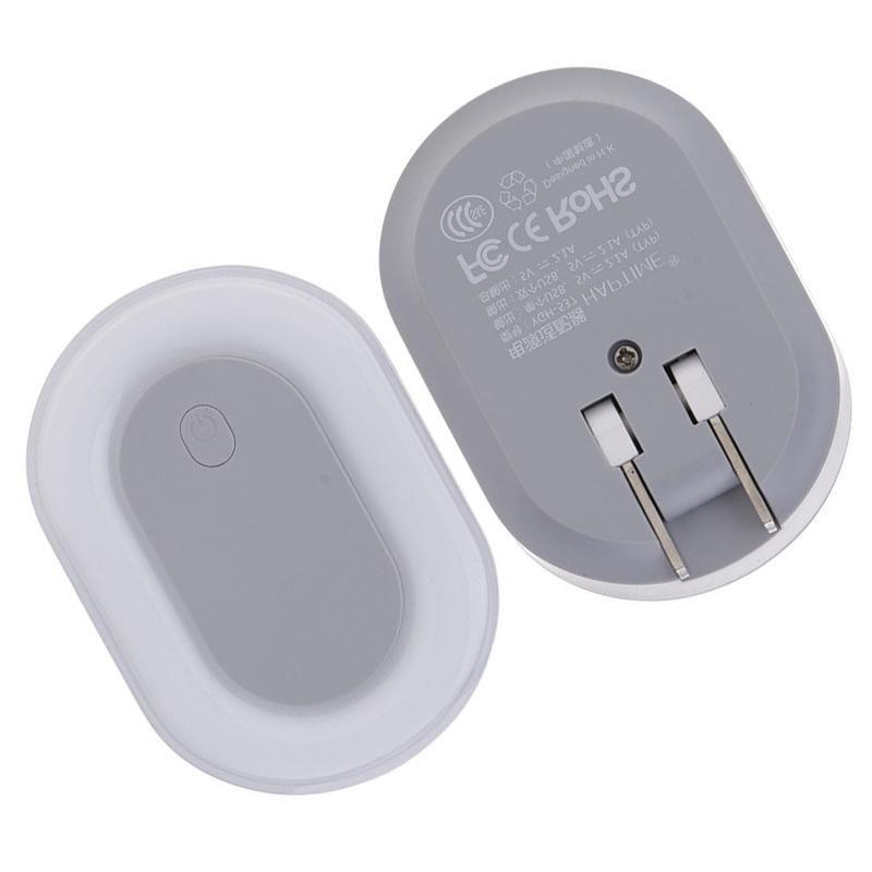 LED Nachtlicht Lampe Schlafzimmer Wand mit Doppel USB Ladegerät Handy 5V2A USB Reise Ladegerät Portable Wand Adapter Stecker