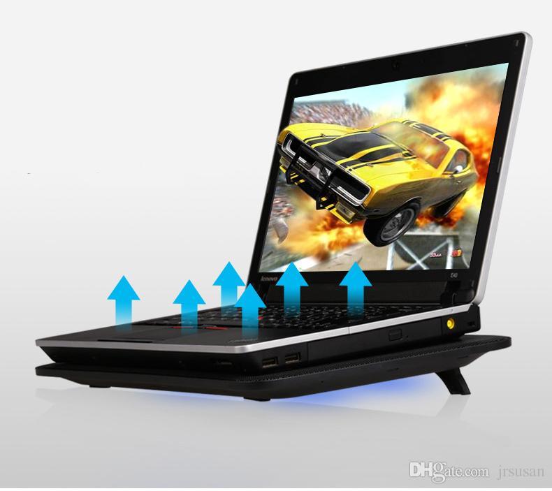 5 Fans Notebook Laptop Kühler Laptop Kühlung Rack Pad Kühlbasis Geschwindigkeitssteuerung Computer Cooling Pad Stärken Edition