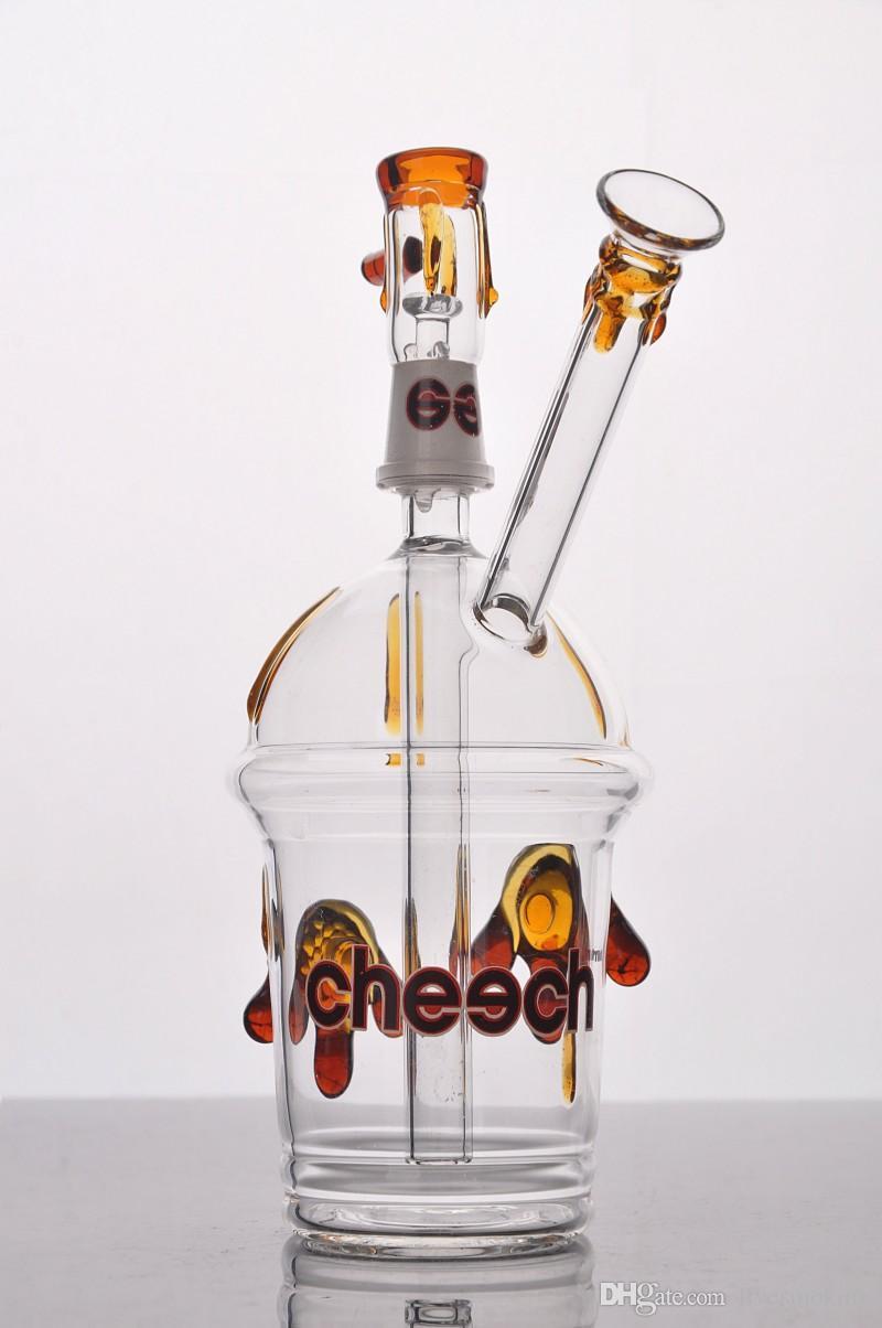 Bong de verre de la coire avec une paire d'huile de tortue en verre Bongs Bongs Mini Hookah Glass