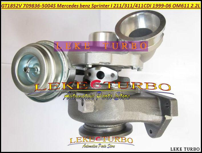 GT1852V 709836-5004S 709836 A6110960899 Turbocharger Turbo For Mercedes benz Sprinter I Van 211CDI 311CDI 411CDI 1999-06 OM611 2.2L 141HP (4)